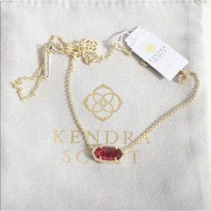 KENDRA SCOTT • Elisa Oval Pendant • Berry / Gold
